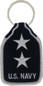 US Navy RADM 2 Star Key Rings