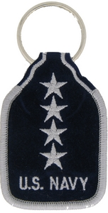 US Navy Admiral Key Rings