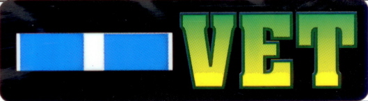Korea Service Ribbon VET Stickers