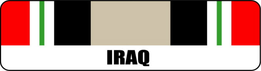 Iraq Service Ribbon Stickers