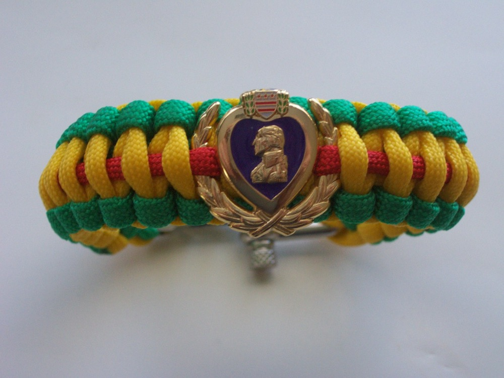 Vietnam Service Ribbon Purple Heart Bracelets