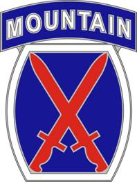 10th Mountain Division Combat Service ID Badges