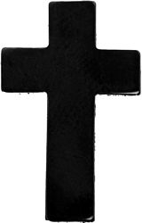Chaplain Cross Black Hat Pins