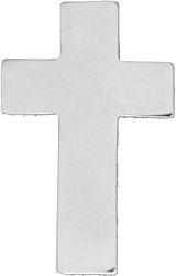 Chaplain Cross Silver Hat Pins