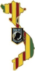 POW/MIA Vietnam Map Hat Pins