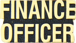 Finance Officer Hat Pins