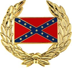 Confederate Flag with Wreath Hat Pins