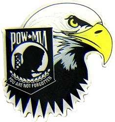 POW/MIA Eagle Hat Pins