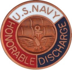 US Navy Honorable Discharge Navy Hat Pins