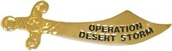 Operation Desert Storm Hat Pins