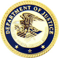 Department of Justice Hat Pins