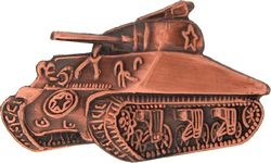 Sherman Tank Hat Pins