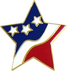Star Flag Hat Pins