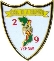 2/9 Hell In A Helmet Vietnam Hat Pins