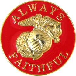 US Marines Always Faithful Hat Pins