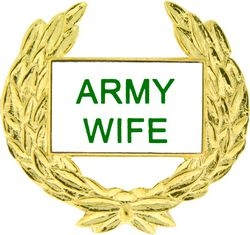 Army Wife with Wreath Hat Pins