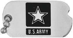 US Army Dog Tag Hat Pins