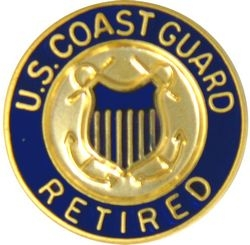 US Coast Guard Retired Hat Pins