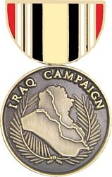 Iraq Campaign Mini Medal Hat Pins