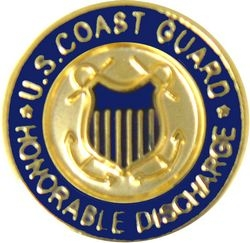 US Coast Guard Honorable Discharge Hat Pins