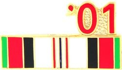 Afghanistan Service Ribbon 2001 Hat Pins