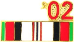 Afghanistan Service Ribbon 2002 Hat Pins