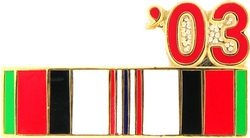 Afghanistan Service Ribbon 2003 Hat Pins