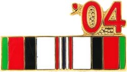 Afghanistan Service Ribbon 2004 Hat Pins