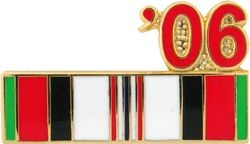 Afghanistan Service Ribbon 2006 Hat Pins