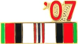 Afghanistan Service Ribbon 2007 Hat Pins