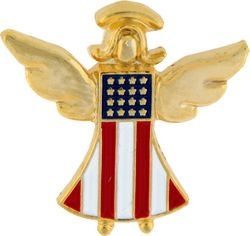 America Is My Guardian Angel Hat Pins