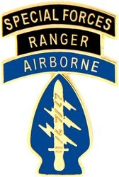 Airborne Ranger Special Forces Army Hat Pins