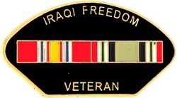 Iraqi Freedom Veteran Hat Pins