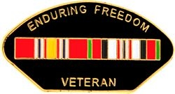 Enduring Freedom Veteran Hat Pins