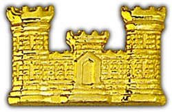 Corps of Engineers Army Hat Pins(gold)