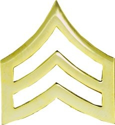 Army Sgt. Gold Stripes Army Hat Pins