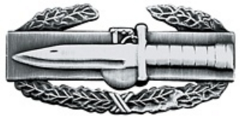 Combat Action Badge (Antique Silver)