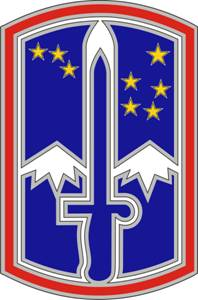 172nd Infantry Brigade Combat Service ID Badges
