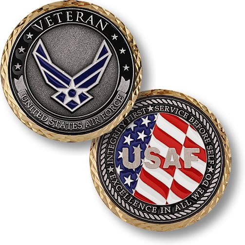 US Air Force Veteran Challenge Coins