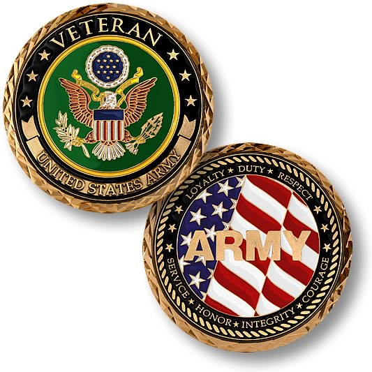 US Army Veteran Challenge Coins