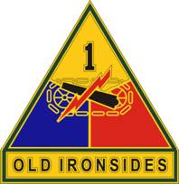 1st Armored Division Combat Service ID Badges