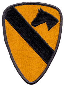 1st Cavalry Division Patches (3 inches)