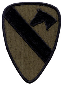1st Cavalry Division Subdued Patches (5 3/8 in)