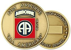 82nd Airborne Division Army Challenge Coins