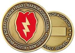 25th Infantry Division Army Challenge Coins