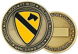 1st Cavalry Division Army Challenge Coins