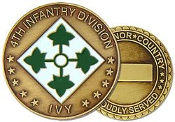 4th Infantry Division Army Challenge Coins