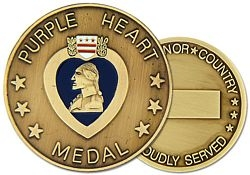 Purple Heart Challenge Coins