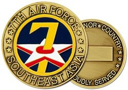 7th Air Force Challenge Coins