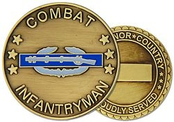 Combat Infantryman Army Challenge Coins